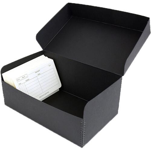 "Archival Methods Hinged Lid Box (7.6 x 5.6 x 5.4"", Black)"