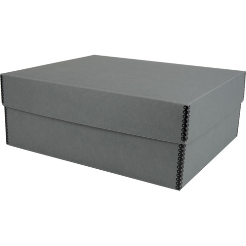 """Archival Methods Deep 5.75"""" Flat Storage Box with Short Top (Gray, 12.5 x 15.0"""")"""