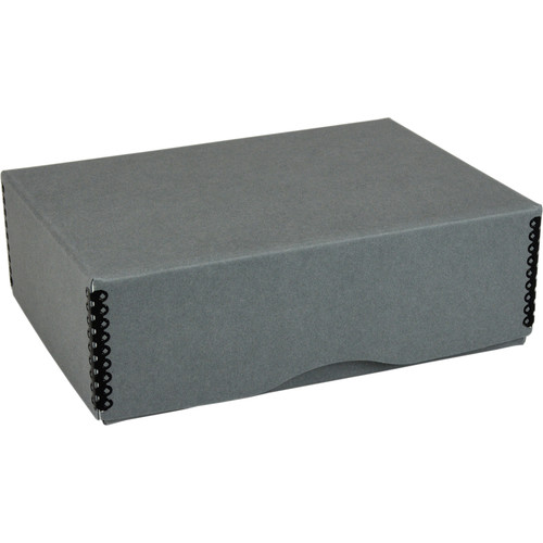 """Archival Methods Deep 3"""" Flat Storage Box with Full Top (Gray, 6.5 x 9.5"""")"""