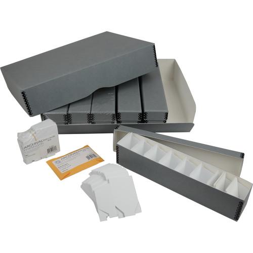 Archival Methods 35mm Slide File Kit with 6 Boxes for 1200 Slides (Gray)