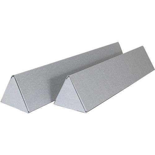 """Archival Methods 36.1"""" Triangular Roll Storage Boxes (3-Pack, Blue/Gray)"""