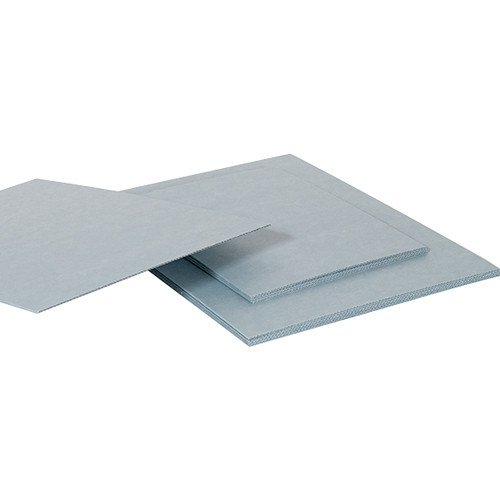 "Archival Methods Blue Gray Archival Corrugated E-Flute Board (17 x 25"", 5 Pack)"