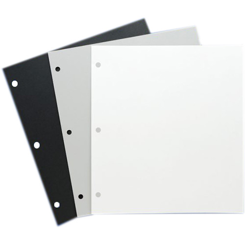 """Archival Methods Archival 3-Hole Mounting Pages (10 x 11"""", Gray, 12-pt, 25-Pack)"""