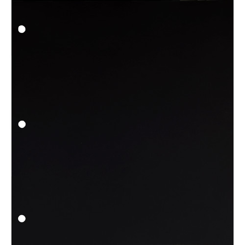 """Archival Methods Archival 3-Hole Mounting Pages (14 x 9.5"""", Black, 10-pt, 25-Pack)"""