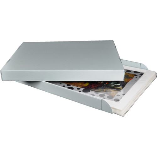 """Archival Methods Archival Corrugated Drop Side Box (Gray, 20.5 x 16.5 x 2.5"""")"""