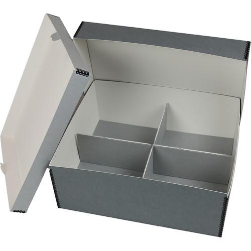 Archival Methods E-Flute Corrugated 4-Compartment Divider (Gray)
