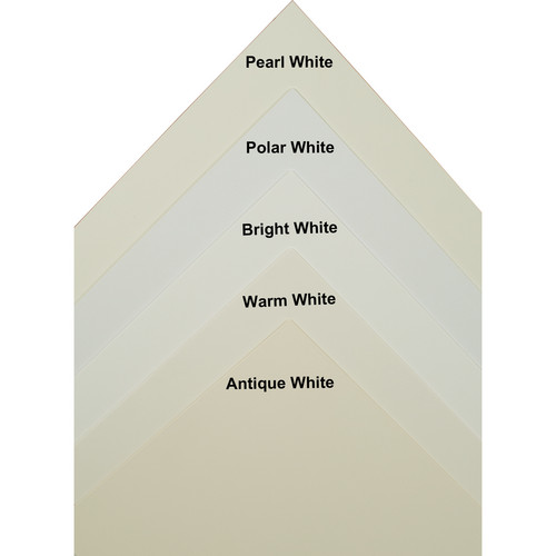 """Archival Methods Warm White 4-Ply 100% Museum Board (5 x 7"""", Package of 25)"""