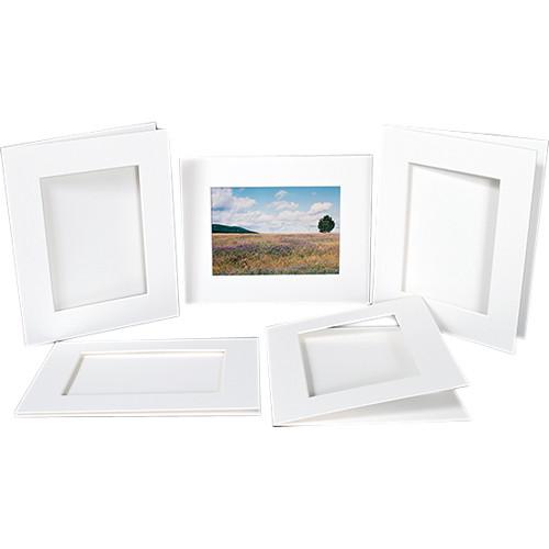 """Archival Methods Pre-Cut Exhibition Mats 100% Cotton Board (22 x 28"""" for 17 x 22"""" Prints, 5 Mats)"""