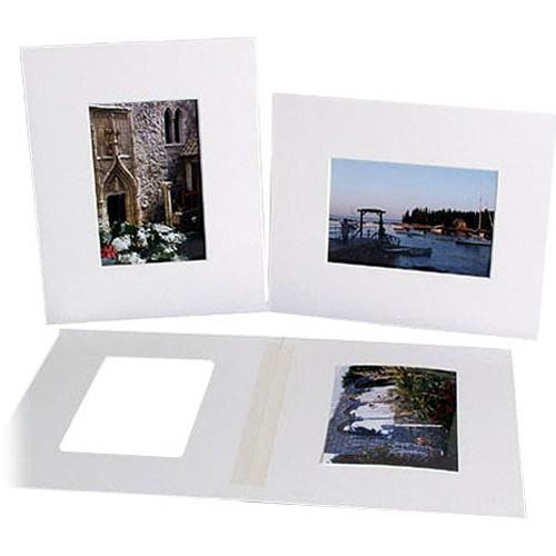 "Archival Methods Bulk Pre Cut Mats (8.5 x 11"" Mat for 5.5 x 8.25"" Prints, 25 Mats)"