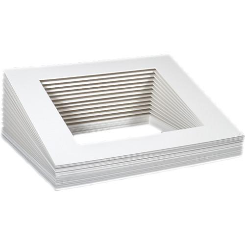 """Archival Methods Bulk Pre Cut Mats (8 x 10"""" Mat for 4 x 6"""" Prints, 25 Mats)"""