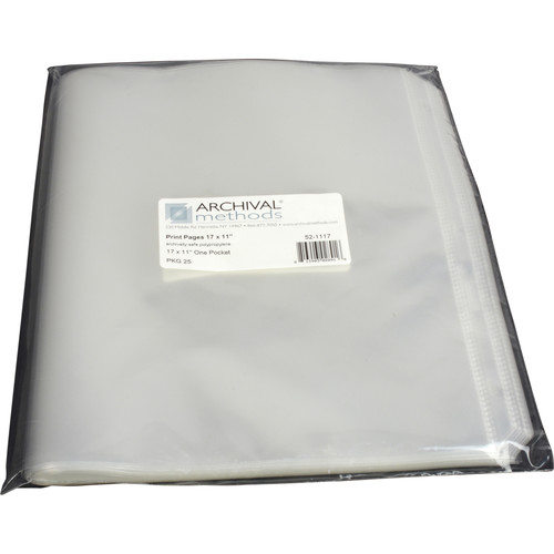 """Archival Methods Page Center Loading (11 x 17"""", 25-Pack)"""