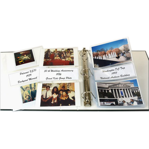 """Archival Methods Caption Pocket 4 x 6"""" Photo Page (25-Pack)"""