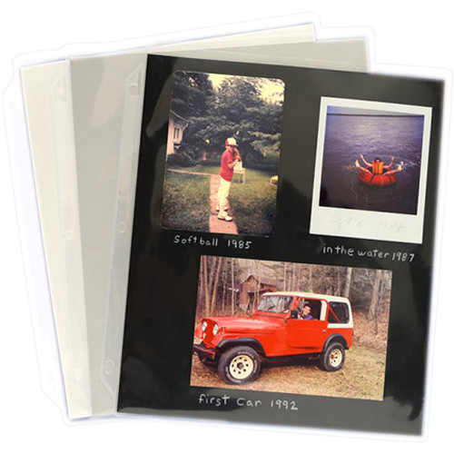 """Archival Methods Pocket Pages with Inserts (9.4 x 11"""", 10-pt. White, 25-Pack)"""