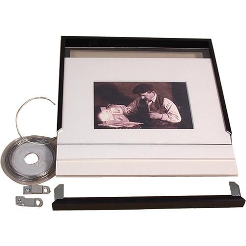 """Archival Methods 16 x 20"""" Complete Frame Kit for 11 x 17"""" Print (Matte Black)"""