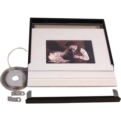 "Archival Methods 8 x 10"" Complete Frame Kit for 4 x 6"" Print (Anodic Black)"