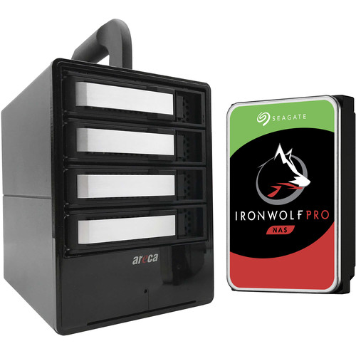 Areca 24TB Solution/ 4X 6TB Seagate Ironwolf Pro HDD/ 5-Year HDD Warranty + 2-Year Rescue Data Recovery
