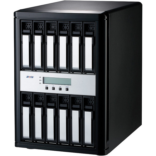 Areca 12-Bay 12 Gb/s SAS to SAS Desktop RAID Subsystem