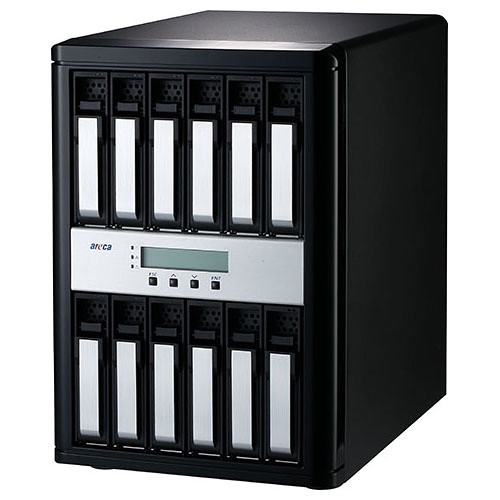 Areca ARC-8050T3-12-72TB 72TB 12-Bay Thunderbolt 3 RAID Array (12 x 6TB Drives)