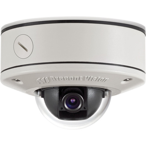 Arecont Vision MicroDome Series 1.3MP Surface Mount Indoor/Outdoor Vandal-Resistant Day/Night Dome IP Camera with 4mm IR Corrected Lens
