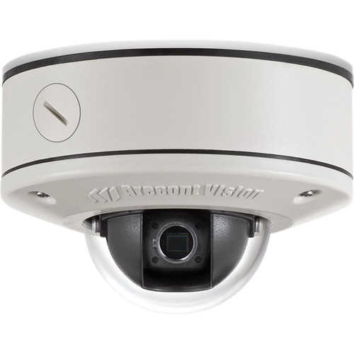 Arecont Vision MicroDome Series 1.3MP Surface Mount Indoor/Outdoor Vandal-Resistant Day/Night Dome IP Camera with No Lens