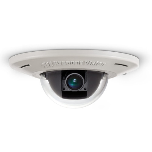 Arecont Vision AV2455DN-F MicroDome H.264 Ultra Low Profile Recessed Mount Day/Night IP Camera with No Lens