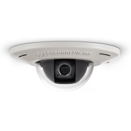 Arecont Vision AV3455DN-F MicroDome H.264 Ultra Low Profile Recessed Mount Day/Night IP Camera with No Lens