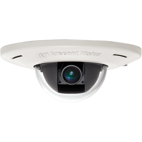Arecont Vision AV3456DN-F MicroDome H.264 Ultra Low Profile Recessed Mount Day/Night IP Camera with 4mm Lens
