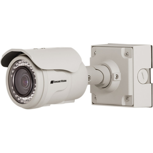 Arecont Vision MegaView 2 Series 5MP Indoor/Outdoor Vandal-Resistant IR Day/Night Bullet IP Camera with 2-Way Audio Support & 3.6 to 9mm P-Iris Lens
