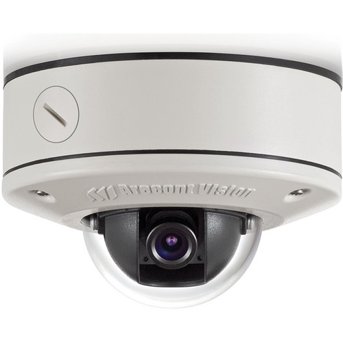 Arecont Vision MicroDome Series 5MP Surface Mount Indoor/Outdoor Vandal-Resistant Day/Night Dome IP Camera with 4mm IR Corrected Lens