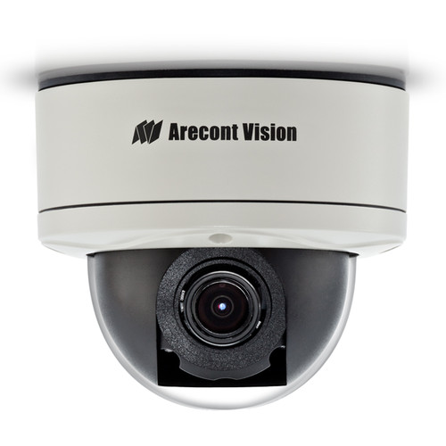 Arecont Vision MegaDome2 AV1255PM-S 1.2MP H.264 All-in-One Motorized P-Iris Lens True Day/Night Indoor/Outdoor Dome IP Camera with STELLAR Technology (3-9mm Wide Angle Lens)