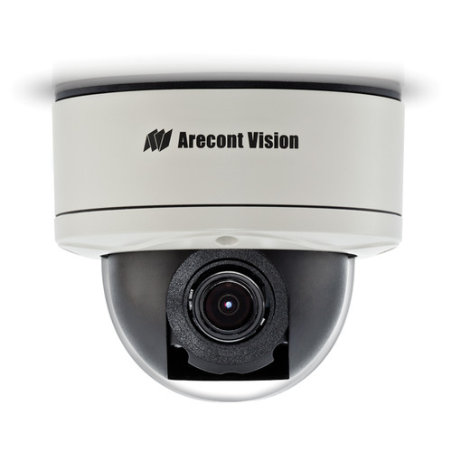 Arecont Vision MegaDome2 AV1255PM-SH 1.2MP H.264 All-in-One Motorized P-Iris Lens Day/Night Indoor/Outdoor Dome IP Camera with STELLAR Technology (3-9mm Wide Angle Lens)