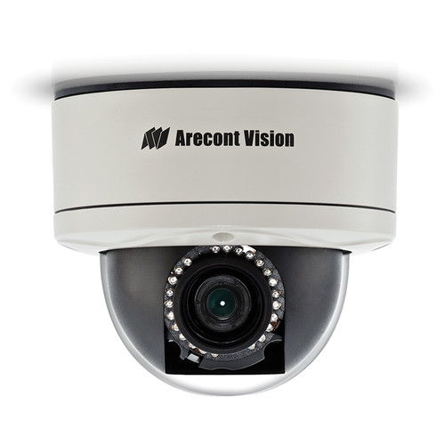Arecont Vision MegaDome2 AV2255PMIR-SAH 1080p H.264 All-in-One Motorized P-Iris Lens Day/Night IR Indoor/Outdoor Dome IP Camera with 2-Way Audio Support (2.8-8mm Wide Angle Lens)