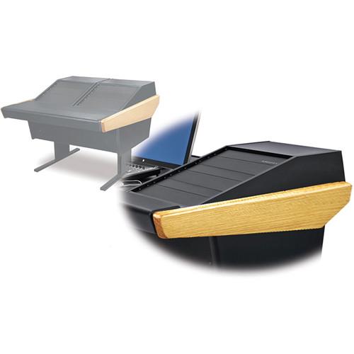 Argosy 50-V2R Universal Workspace with Two VR-1503 Front 15 RU & Rear 3 RU (Oak Hardwood)