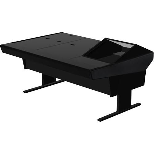 "Argosy 70-70V1R Universal Workstation Desk with 45.5"" Flat Desk Insert and One VR1000 Front 10 RU (Black)"