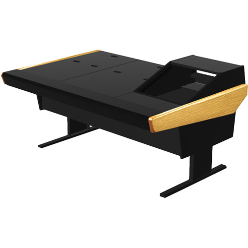 "Argosy 70-70V1R Universal Workstation Desk with 45.5"" Flat Desk Insert and One VR1003 Front 10 RU & Rear 3 RU (Oak)"