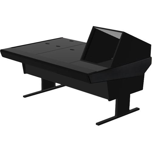 "Argosy 70-70V1R Universal Workstation Desk with 45.5"" Flat Desk Insert and One VR1005 Front 10 RU & Rear 5 RU (Black)"