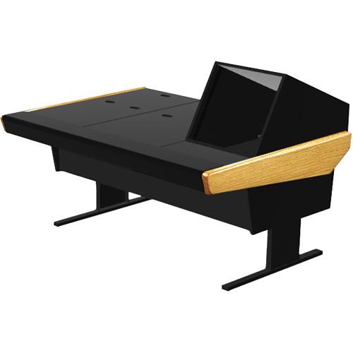 "Argosy 70-70V1R Universal Workstation Desk with 45.5"" Flat Desk Insert and One VR1005 Front 10 RU & Rear 5 RU (Oak)"