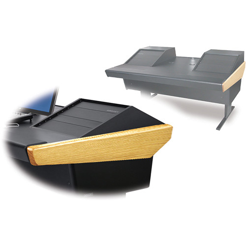 "Argosy 70-70V2R Universal Workstation Desk with 25"" Flat Desk Insert and Two VR1000 Front 10 RU (Oak)"