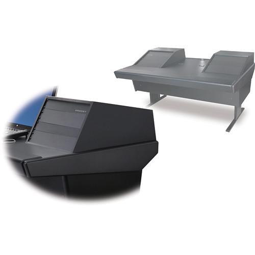 "Argosy 70-70V2R Universal Workstation Desk with 25"" Flat Desk Insert and Two VR1005 Front 10 RU & Rear 5 RU (Black)"