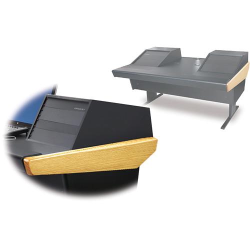 "Argosy 70-70V2R Universal Workstation Desk with 25"" Flat Desk Insert and Two VR1005 Front 10 RU & Rear 5 RU (Oak)"