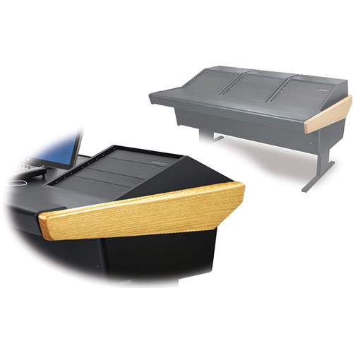 Argosy 70-70V3R Universal Workstation Desk with Three VR1000 Front 10 RU (Oak)