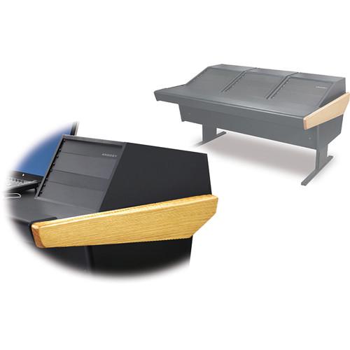 Argosy 70-70V3R Universal Workstation Desk with Three VR1005 Front 10 RU & Rear 5 RU (Oak)