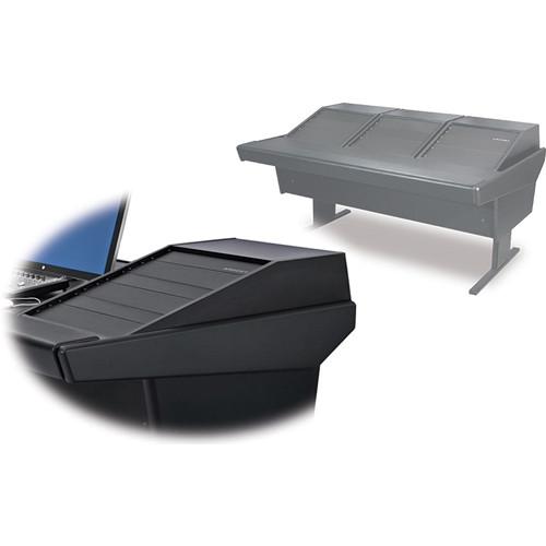 Argosy 70-70V3R Universal Workstation Desk with Three VR1503 Front 15 RU & Rear 3 RU (Black)