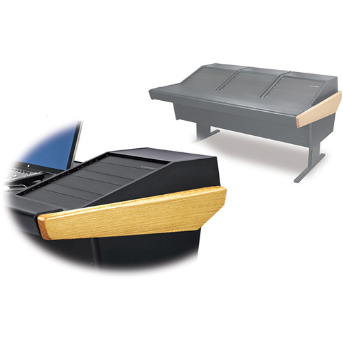 Argosy 70-70V3R Universal Workstation Desk with Three VR1503 Front 15 RU & Rear 3 RU (Oak)