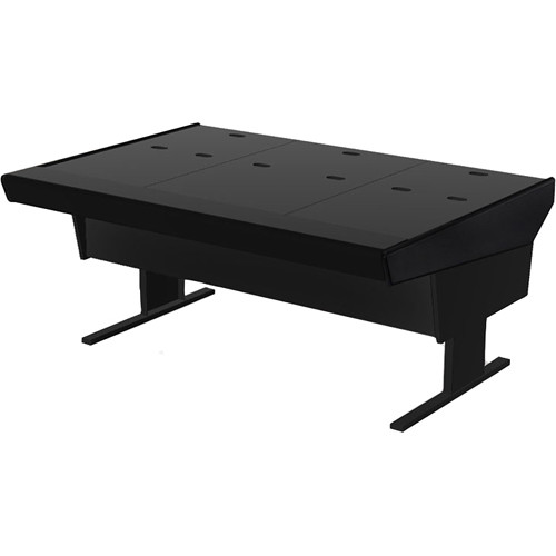 "Argosy 70-VN Universal Workstation Desk with 66.5"" Flat Desk Insert (Black)"