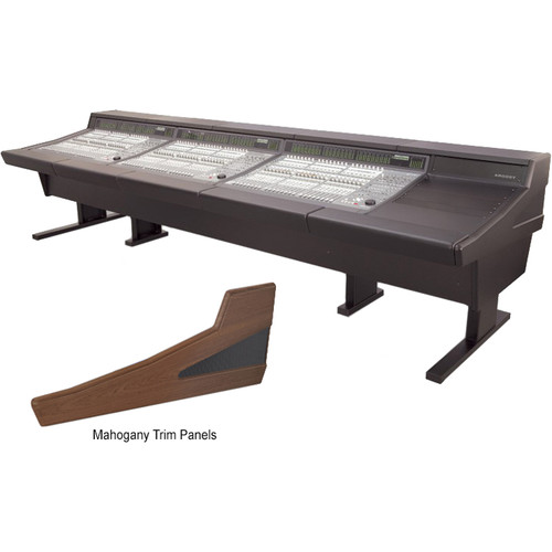 Argosy 90 Series Workstation Desk for Three Digidesign C|24 Controllers with Rack Unit (Mahogany)