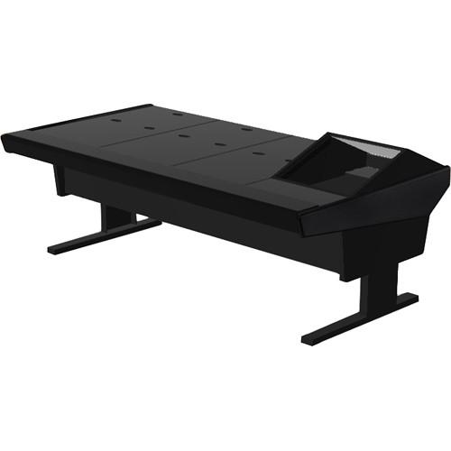 "Argosy V1R Universal Workstation Desk with VR1000 10 Upper Rack Module (Black, 89.5"")"