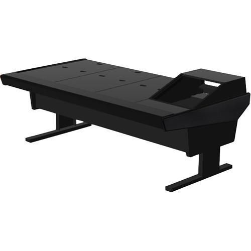 "Argosy V1R Universal Workstation Desk with VR1003 10U Front, 3U Rear Rack Module (Black, 89.5"")"