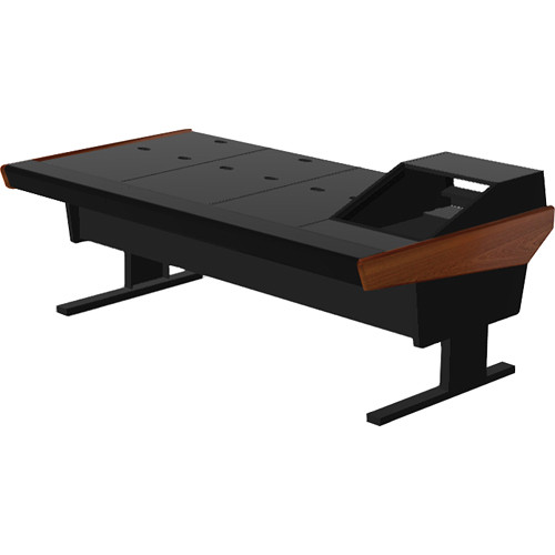 "Argosy V1R Universal Workstation Desk with VR1003 10U Front, 3U Rear Module (Mahogany, 89.5"")"