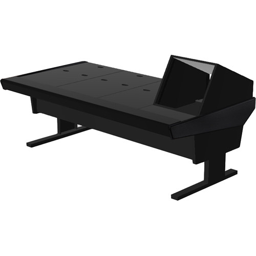 "Argosy V1R Universal Workstation Desk with VR1005 10U Front, 5U Rear Module (Black, 89.5"")"